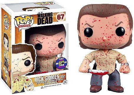 Funko POP Walking Dead Blood Splattered Prison Rick Grimes Vinyl Figure